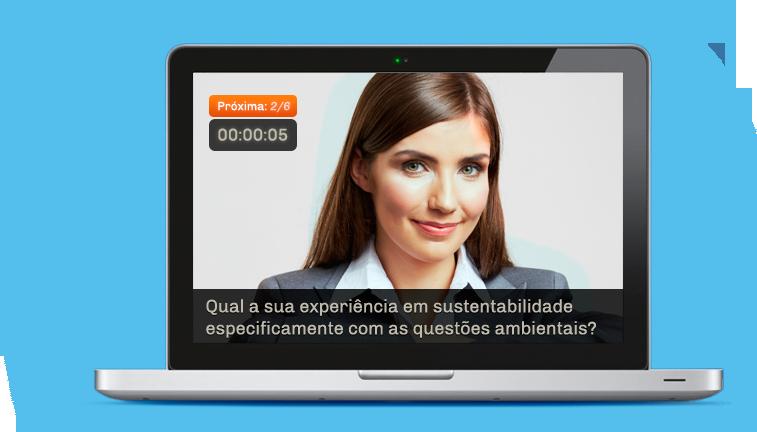 Somos uma plataforma para gravação de pré-entrevistas
